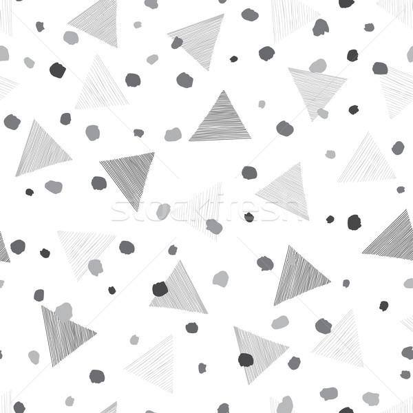 Absztrakt mértani végtelen minta díszítő fehér tapéta Stock fotó © Terriana