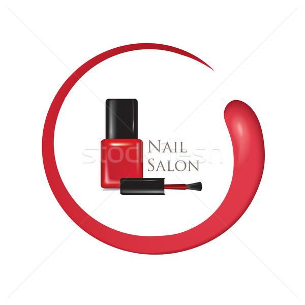 Nail beauty salon background. Manicure nail polish bottle sign. Stock photo © Terriana