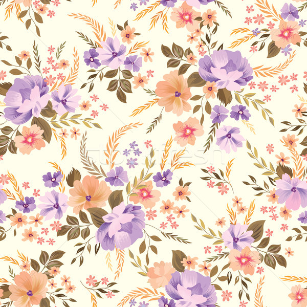 Floral seamless pattern. Flower background. Flourish garden wallpaper with flowers. Stock photo © Terriana