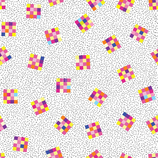 Abstract geometric seamless pattern. Stylish dotted pixel background Stock photo © Terriana