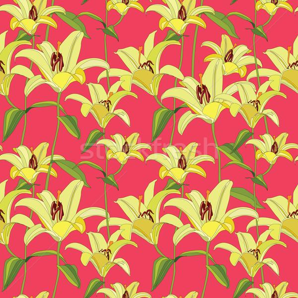Floral seamless pattern. Flower background. Flourish garden texture Stock photo © Terriana
