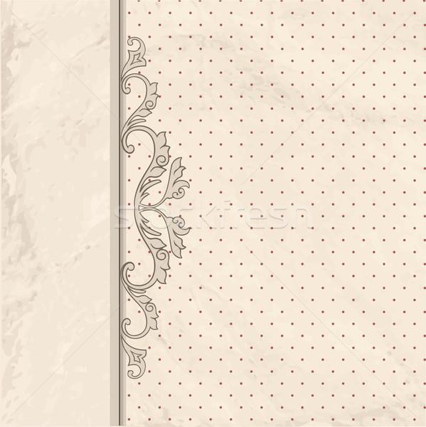 Virágmintás keret klasszikus régi papír textúra retro Stock fotó © Terriana