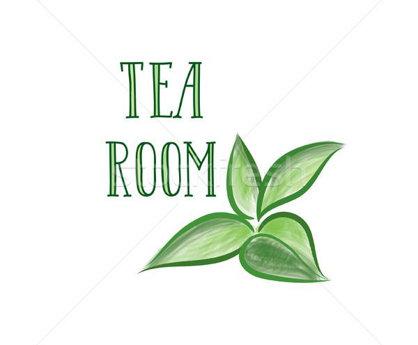 緑茶 ハーブ ラベル 茶 ルーム ストックフォト © Terriana