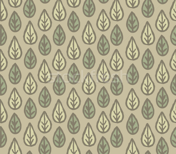Floral seamless pattern with leaves. Ornamental floral background Stock photo © Terriana