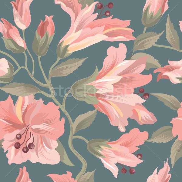 Floral seamless pattern. Flower background. Flourish wallpaper w Stock photo © Terriana