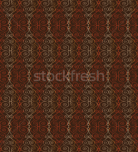 Abstract orient pattern. Floral swirl Line textured tile ornament Stock photo © Terriana