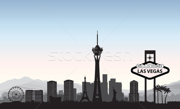 Las Vegas skyline. Travel american city landmark background. Urb Stock photo © Terriana