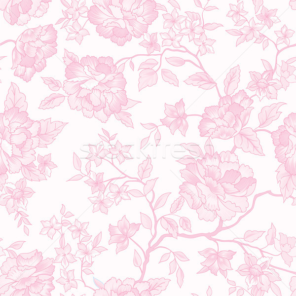 Floral seamless pattern. Pink flower background Stock photo © Terriana