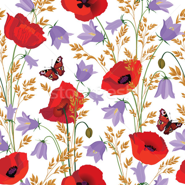 Flower Seamless Pattern Floral Summer Background Stock photo © Terriana