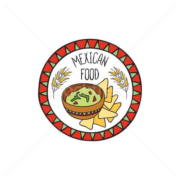 Mexicaanse voedsel doodle symbool vorm teken Stockfoto © Terriana