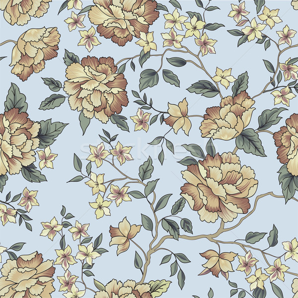 Floral seamless pattern. Garden flower background Stock photo © Terriana
