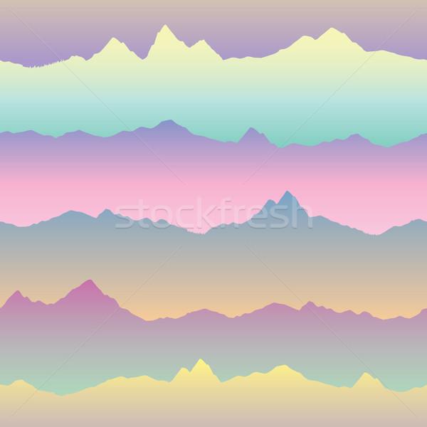Streszczenie falisty górskich panoramę charakter asian Zdjęcia stock © Terriana