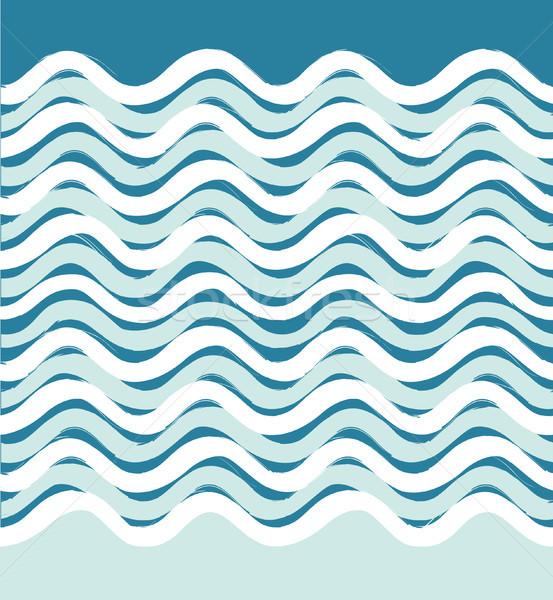 Abstract sea wave seamless pattern. Wavy stripe background. Stock photo © Terriana