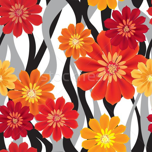 Floral padrão flor sem costura florescer Foto stock © Terriana