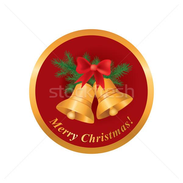 Neşeli Noel tebrik kartı kış tatil ikon Stok fotoğraf © Terriana