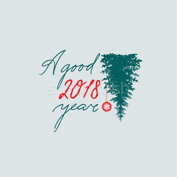 Happy new year sign. Handwritten lettering A Good Year 2018. Stock photo © Terriana