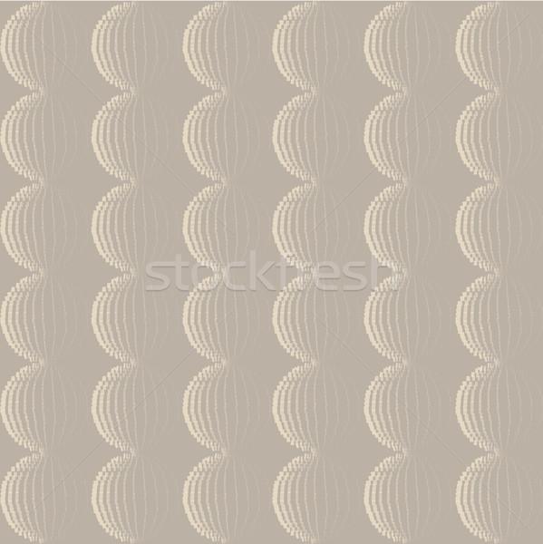 Senza soluzione di continuità disegno geometrico set stile retrò abstract vettore Foto d'archivio © Terriana