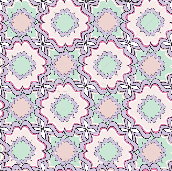 Abstract geometric seamless pattern. Floral ornamental texture Stock photo © Terriana