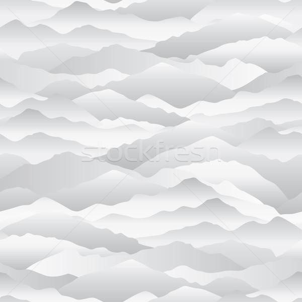 Abstrato onda montanha linha do horizonte lan Foto stock © Terriana