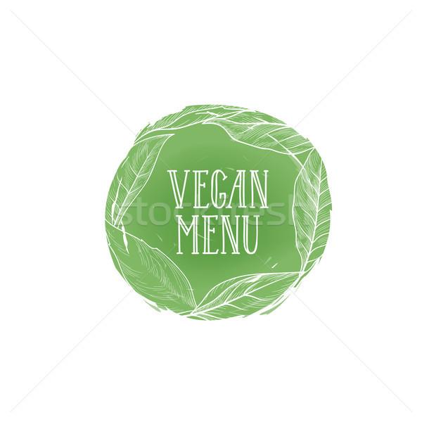 Vegetarisch natuurlijke voedsel teken veganistisch menu Stockfoto © Terriana