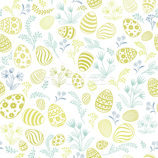 Floral holiday pattern. Easter egg seamless background. Stock photo © Terriana
