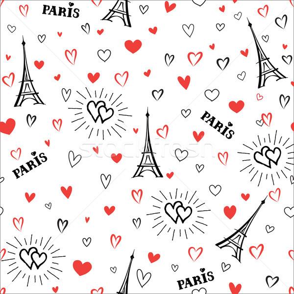 Utazás Franciaország végtelen minta Párizs város vakáció Stock fotó © Terriana
