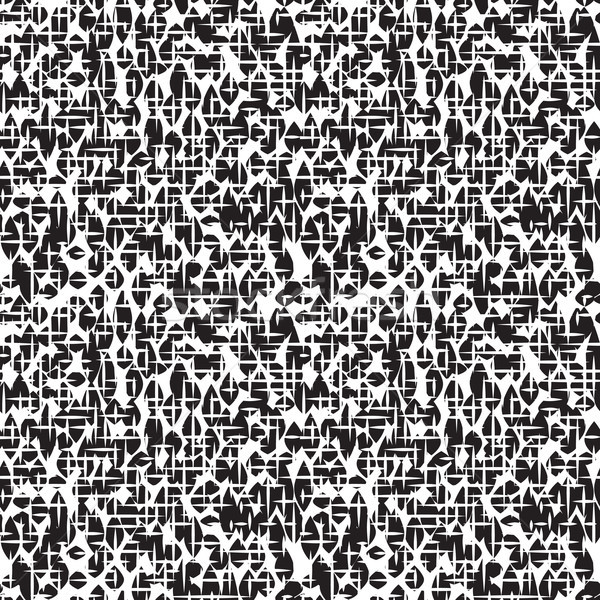 Abstract irregular striped line seamless pattern. Black and whit Stock photo © Terriana