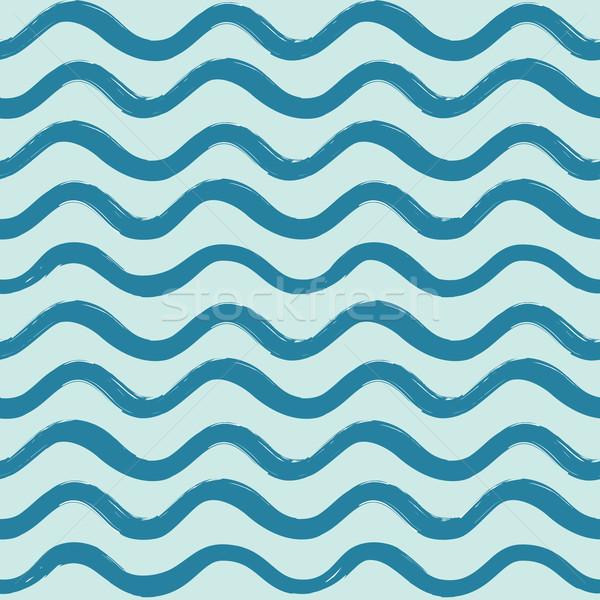 Resumen ola oceánica ondulado línea raya Foto stock © Terriana