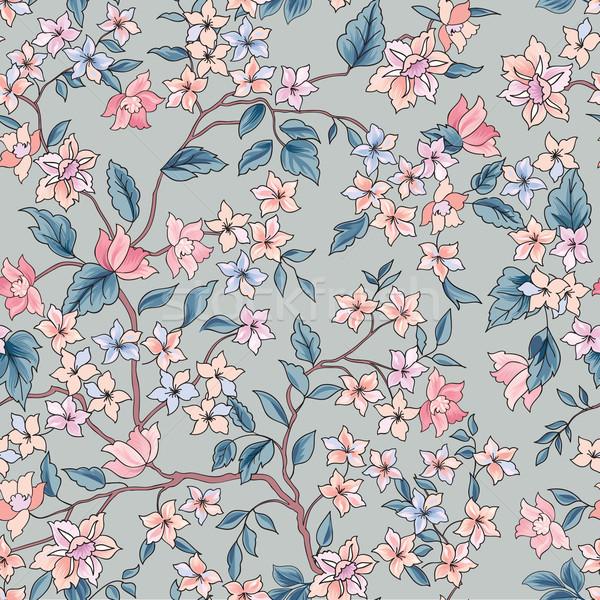 Flower seamless pattern. Floral garden background Stock photo © Terriana