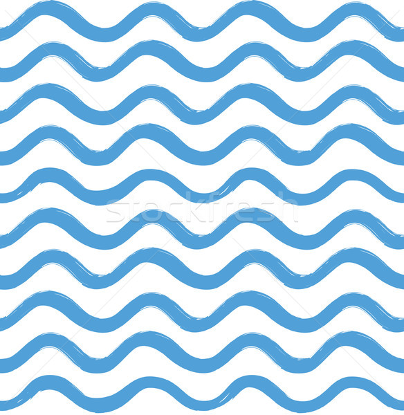 Abstract wave seamless pattern. Stylish geometric background. Wa Stock photo © Terriana
