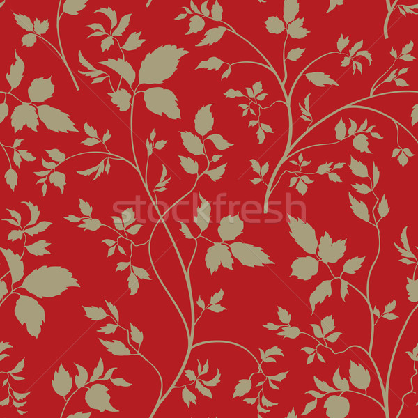 Floral seamless pattern. Branch with leaves ornamental backgroun Stock photo © Terriana