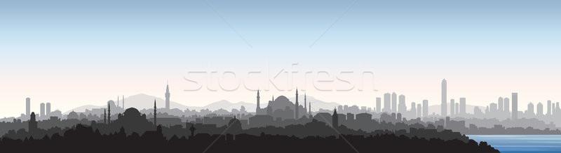 Isztambul városkép utazás Törökország török városi Stock fotó © Terriana