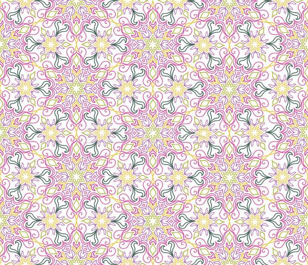 Floral florecer azulejos étnicas Foto stock © Terriana