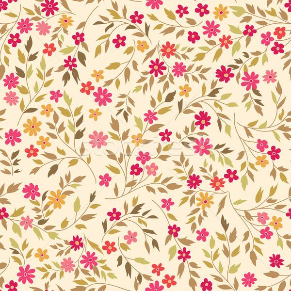 Floral seamless pattern. Flourish garden background. Spring flowers Stock photo © Terriana