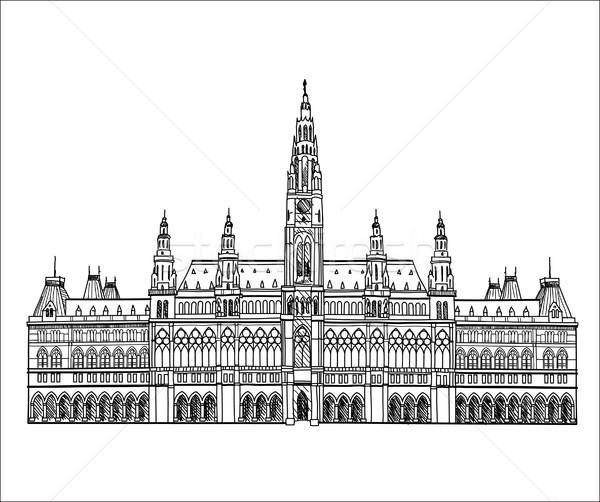ウイーン 市 有名な ランドマーク ホール 宮殿 ストックフォト © Terriana