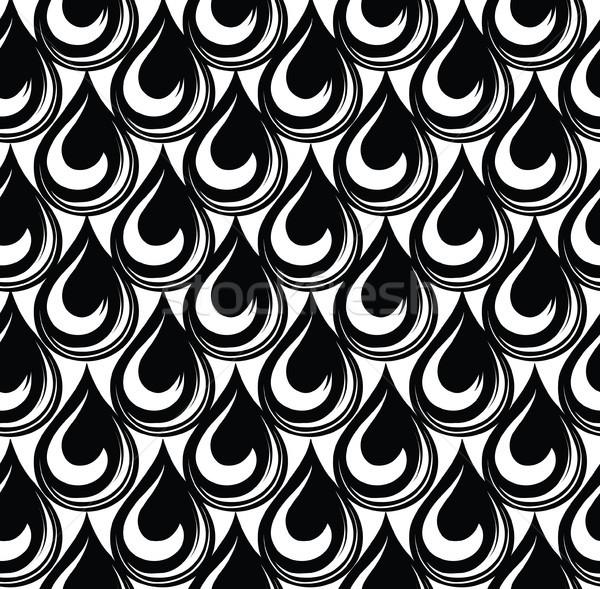 капелька бесшовный орнамент шаблон аннотация дождь Сток-фото © Terriana