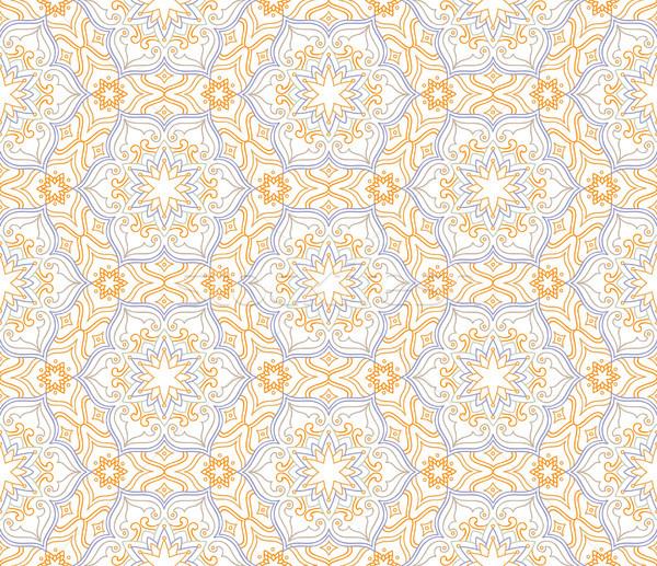 Florescer mosaico azulejos padrão floral Foto stock © Terriana