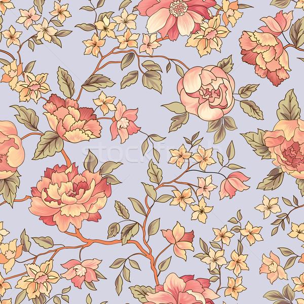 Bloem bloeien tuin tekst Stockfoto © Terriana