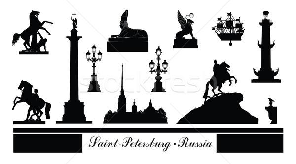 Miasta symbol zestaw Rosja turystycznych punkt orientacyjny Zdjęcia stock © Terriana
