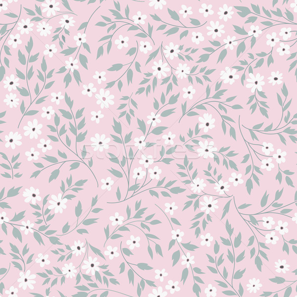 Floral seamless pattern. Flourish garden background. Spring flowers Stock photo © Terriana