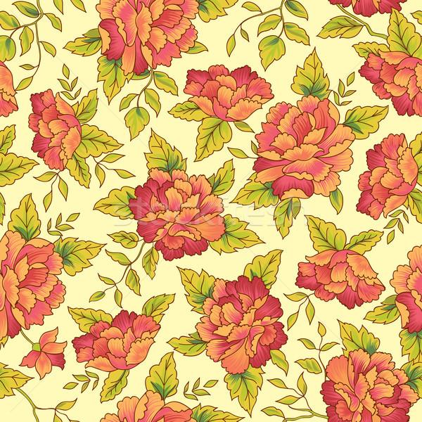 Virágmintás végtelen minta díszítő virág minta végtelenített Stock fotó © Terriana