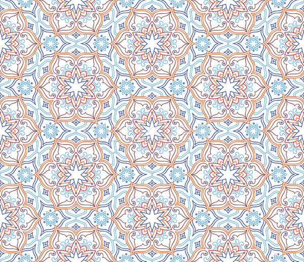 Floral seamless pattern. Flourish tiled oriental ethnic backgrou Stock photo © Terriana