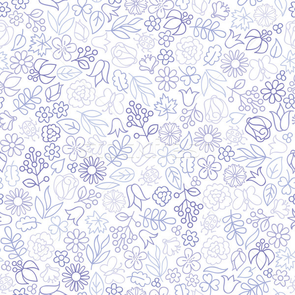 Flor floral icono blanco primavera Foto stock © Terriana