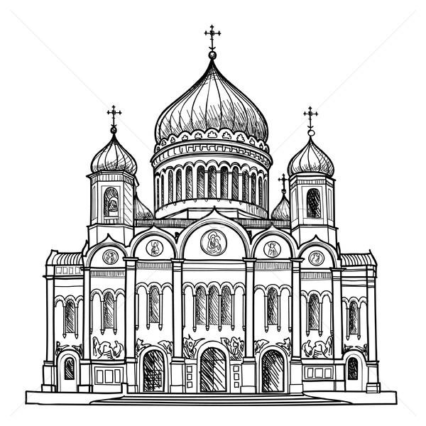 Stampa cattedrale Cristo salvatore Mosca Russia Foto d'archivio © Terriana
