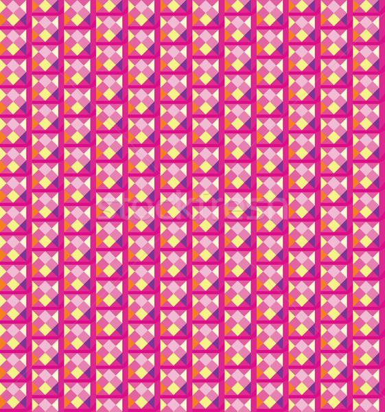 Absztrakt mértani pixel minta ünnep végtelenített Stock fotó © Terriana