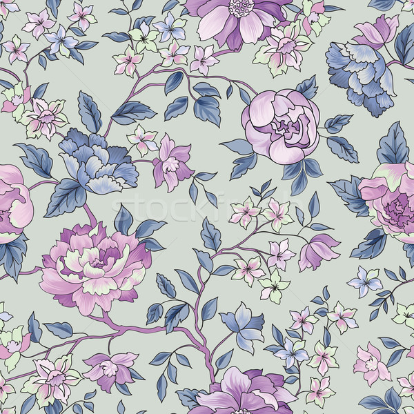 Floral seamless pattern. Flower background. Ornamental garden fl Stock photo © Terriana