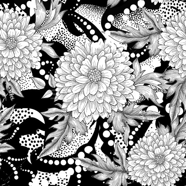 Floral seamless pattern. Abstract ornamental flower background Stock photo © Terriana