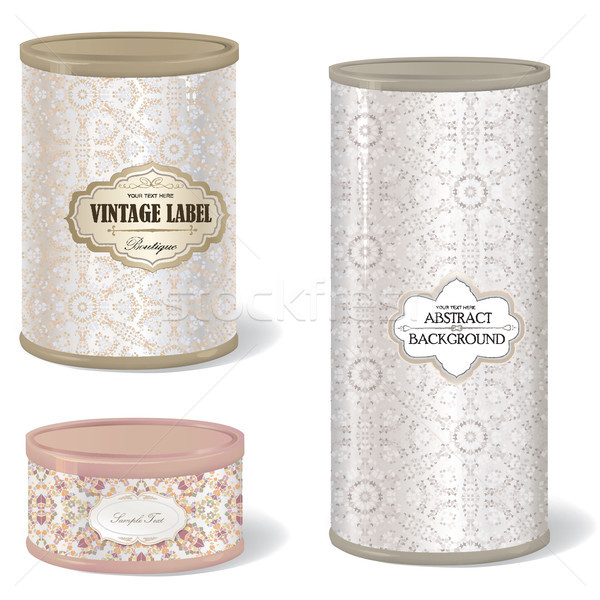 box set round shape with vintage label Stock photo © Terriana