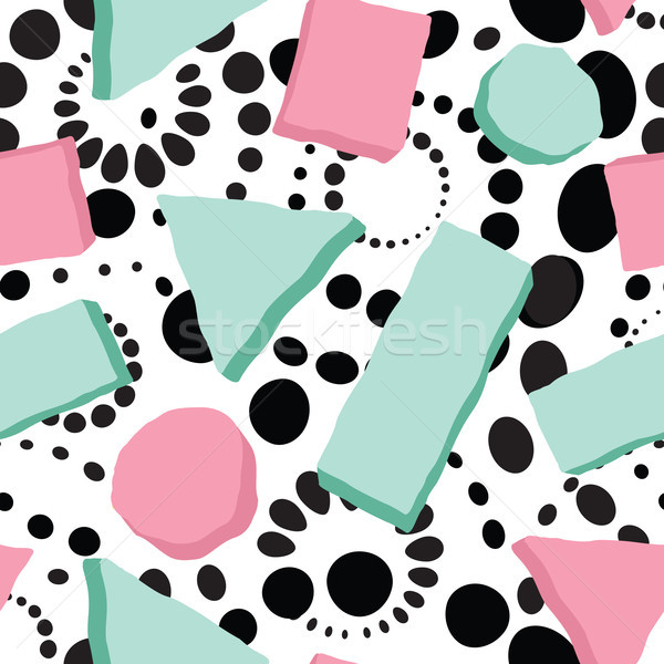 Abstract spot seamless pattern. Geometric shape dotted background Stock photo © Terriana