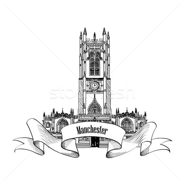 Podróży Anglii podpisania Manchester miasta punkt orientacyjny Zdjęcia stock © Terriana
